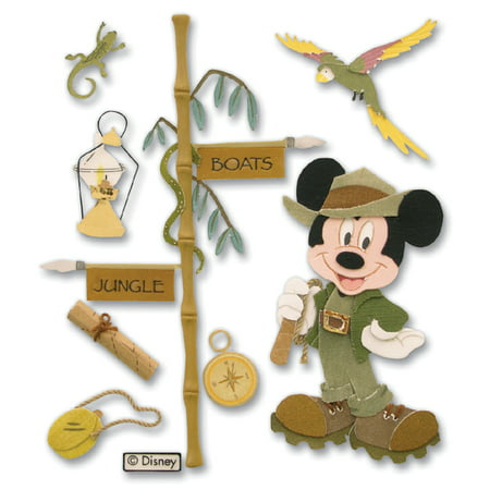 Disney Dimensional Stickers, Vacation Jungle Mickey