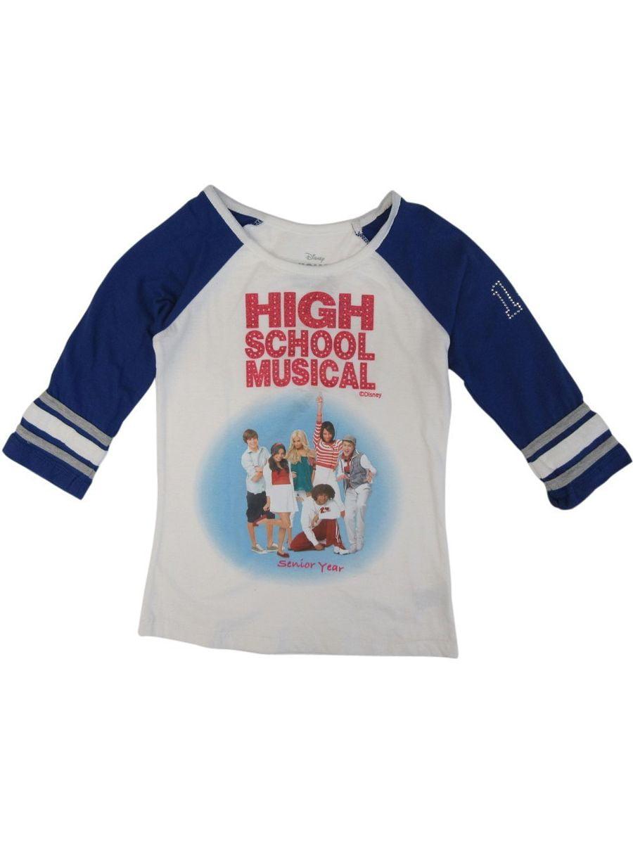 Disney Big Girls White High School Musical 42798 Sleeve Shirt