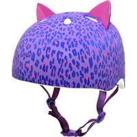 Krash! Leopard Kitty 3D Multisport Helmet, Purple, Youth 8+ (54-58cm)