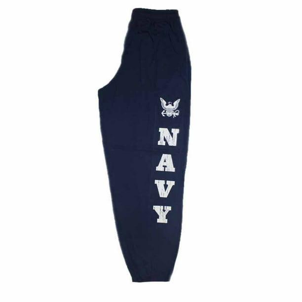 JWM Military Mens Screen Printed Jersey Knit Lounge Pants