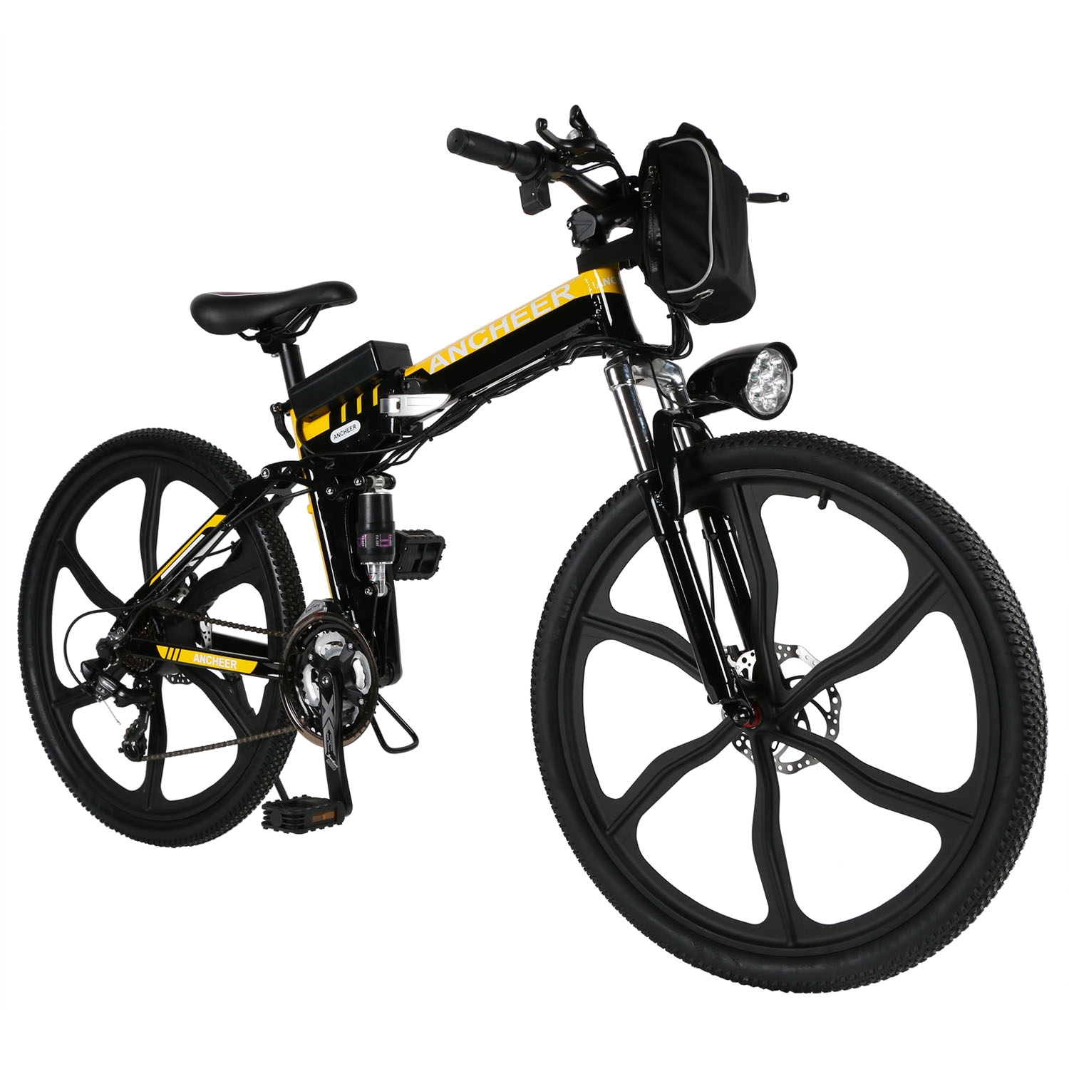 "26""Foldable Mountain Bike 27 Speed Folding Electric Power Bike Bicycle with Lithium-Ion Battery Smt by"