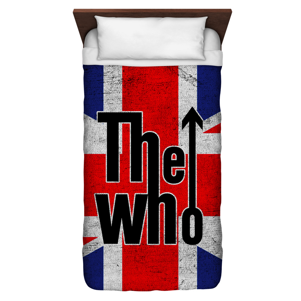 The Who Who Flag Twin Duvet Cover White 68X88
