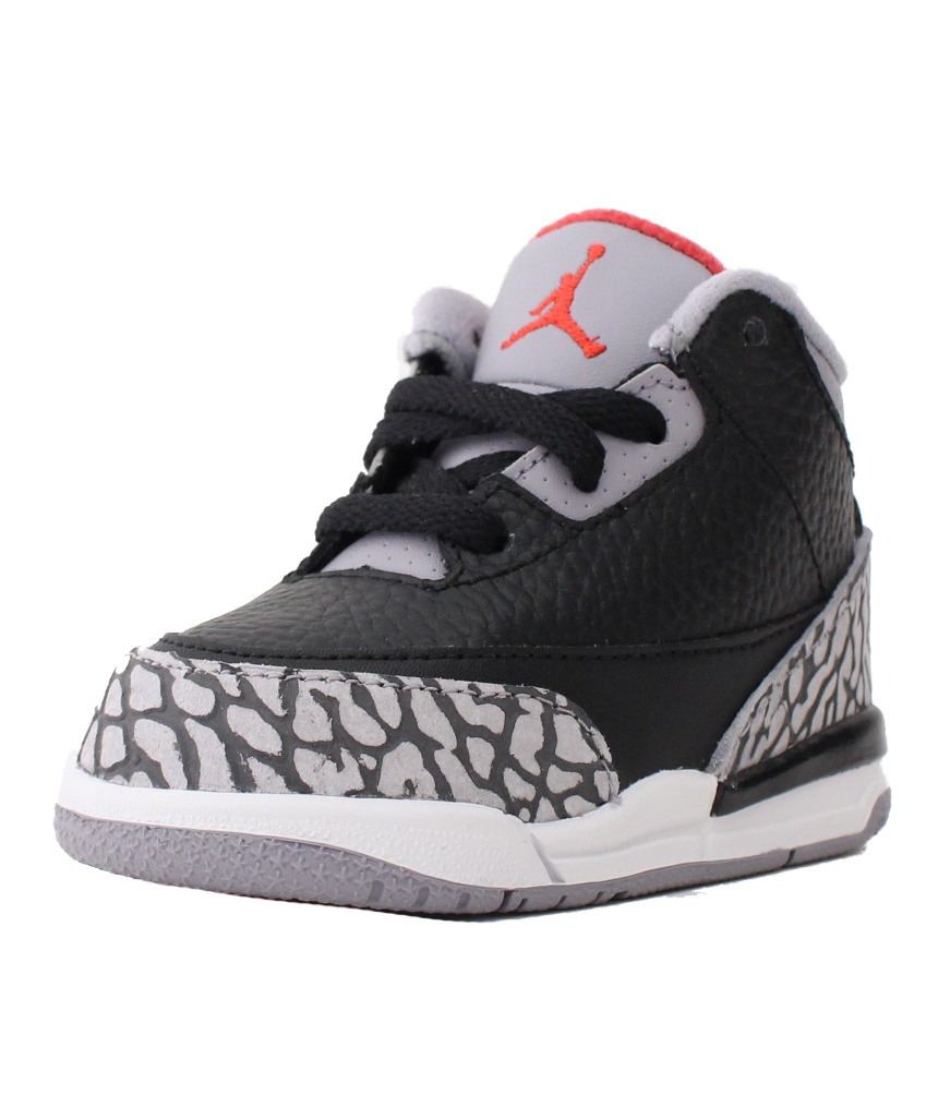 a51eb1b170a27e ... store air jordan 3 retro iii td sz 2 c toddler black cement grey red  white