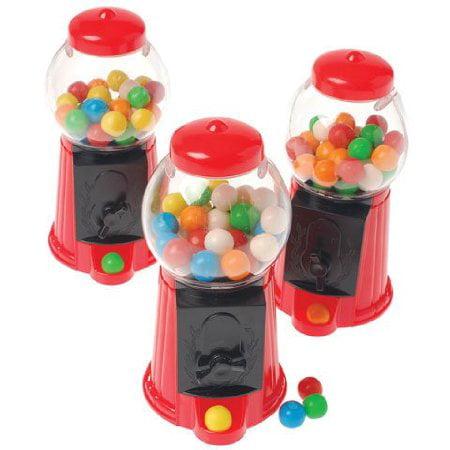 24 PACKS : Gumball Machine 5 inch Plastic, Pre-Loaded](Gumball Machine Centerpiece)