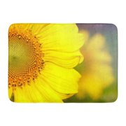 GODPOK Green Beauty Blue Agriculture The Sunflowers in Closeup Colorful Beautiful Bee Rug Doormat Bath Mat 23.6x15.7 inch