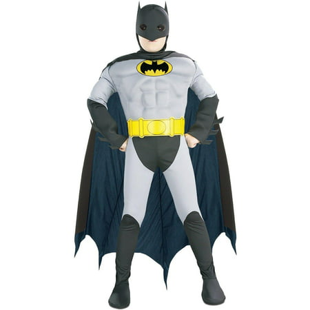 Batman with Muscle Chest Toddler / Child Costume - Toddler (2T-4T) - Toddler Batman Halloween Costumes