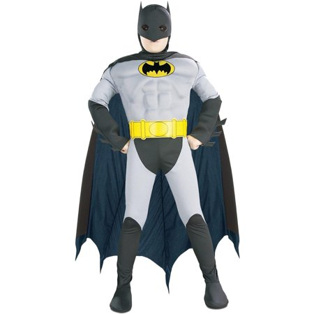 Batman with Muscle Chest Toddler / Child Costume - Toddler (2T-4T) - Padded Batman Costume