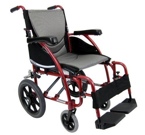 Karman Healthcare S-115-TP Ergonomic Ultra Lightweight Manual Wheelchair, Pearl Silver, 20 Inches Seat Width