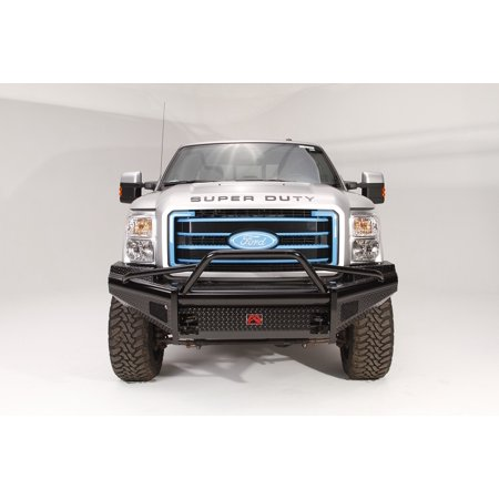 Black Powder Coated Grille Guard (Fab Fours FS05-S1262-1 Black Steel Front Ranch Bumper; 2 Stage Black Powder Coated; w/Pre-Runner Grill Guard; Incl. Light Cut-Outs;)