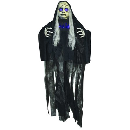 Haunted Purple Light Up Doll Halloween - Halloween Light Displays Music