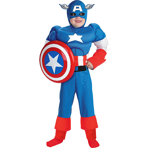 Marvel Captain America Muscle Child Halloween Costume