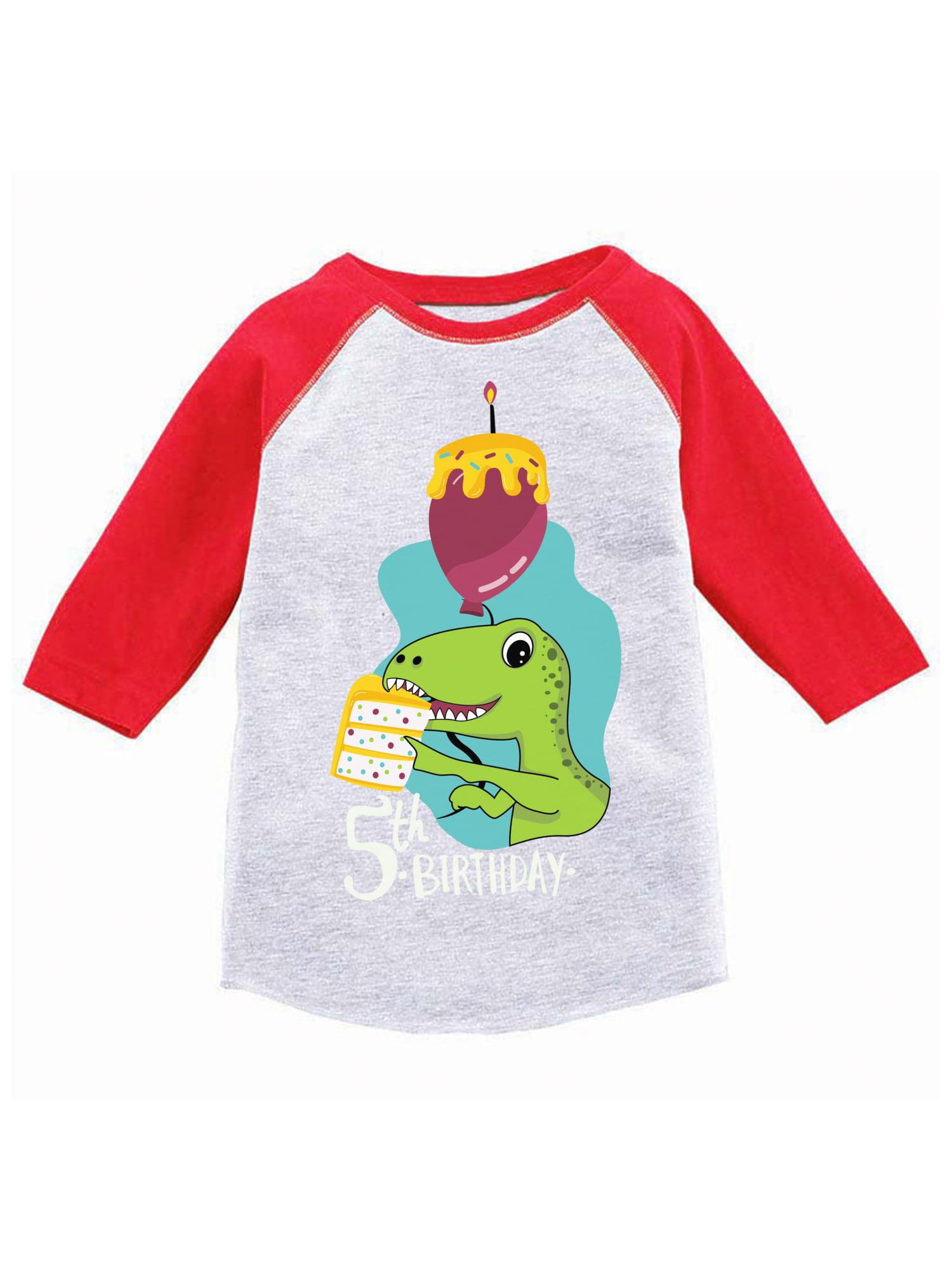 Awkward Styles Dinosaur Birthday Toddler Raglan 5th Party Shirt Gifts For Kids Themed Boy Jersey