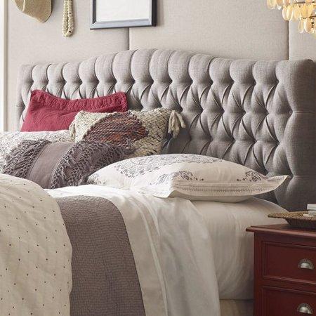 Elle Decor Celeste Upholstered Panel Headboard Art Deco Bedroom Headboard