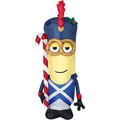 Gemmy christmas disney minion toy soldier w/ candy cane i...
