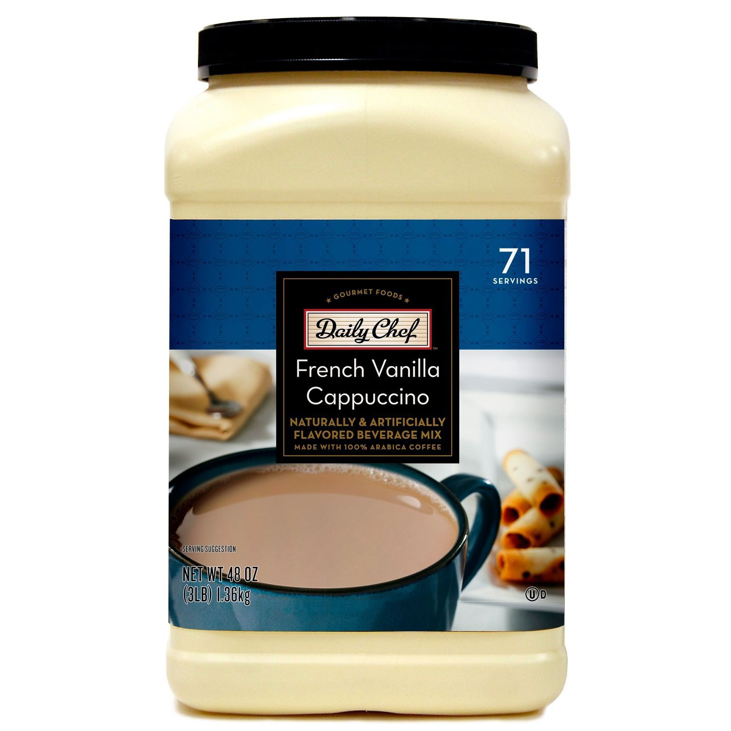 Daily Chef French Vanilla Cappuccino 48 oz.(72 Servings)