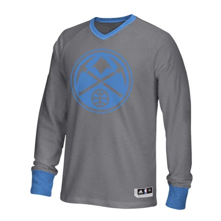 Adidas Denver Nuggets 2015 On Court Christmas Day Shooter Long Sleeve T-Shirt (Gray) by