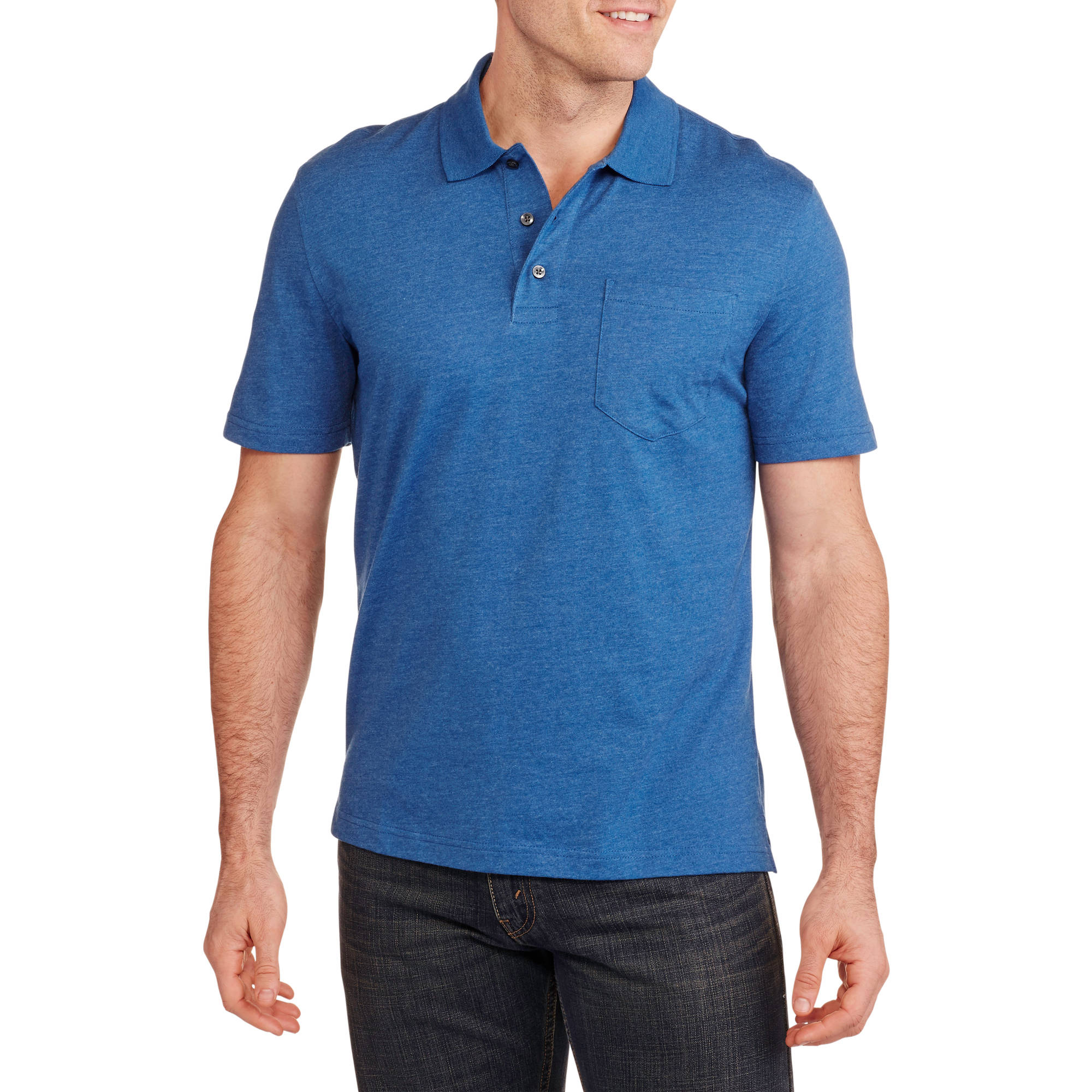 George Men's Solid Jersey Polo