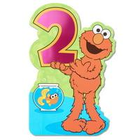Elmo 1st Birthday Card with Foil