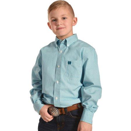 165a8fb41 Cinch Boys' Match Dad Long Sleeve Shirt - Mtw7060178 - Walmart.com