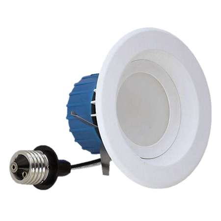 NICOR Lighting 4-Inch Dimmable 4000K LED Remodel Downlight Retrofit Kit for Recessed Housings, White Trim
