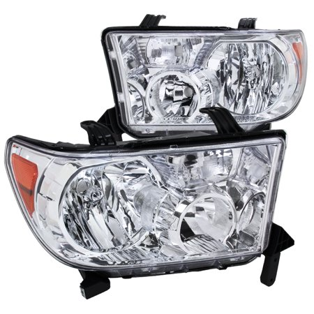 Spec-D Tuning 2007-2013 Toyota Tundra/ 2008-2014 Sequoia Replacement Headlights Lh + Rh W/ Amber 07 08 09 10 11 12 13 (Left + Right)