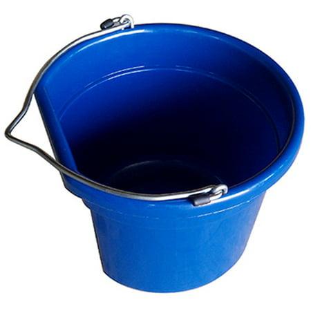 Utility Bucket, Flat Sided, Dark Blue Resin, 8 Qts., Qingdao Huatian, MR8QTP/FSB-DK (Resin Flag)