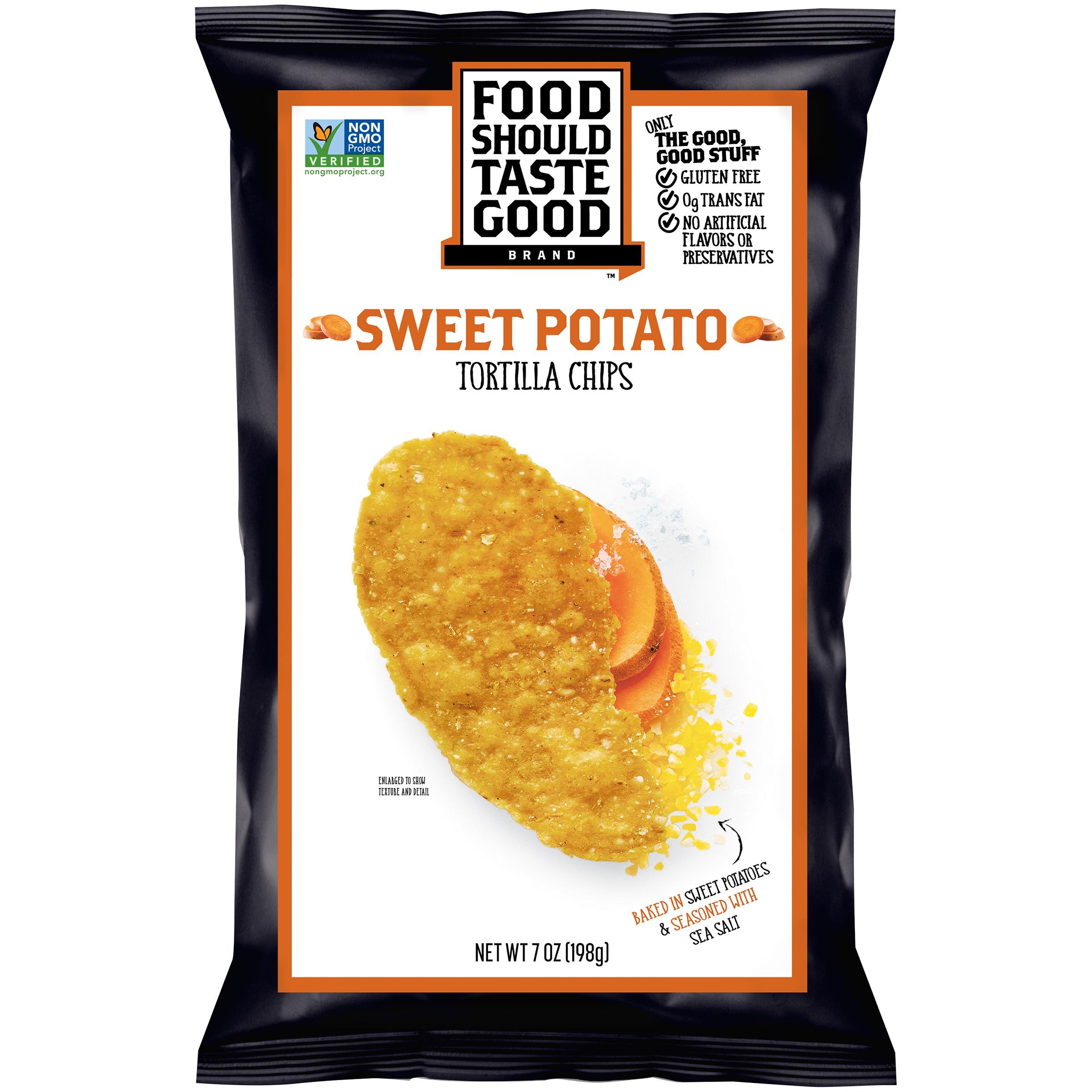 Food Should Taste Good Sweet Potato Tortilla Chips 7 oz. Bag by Food Should Taste Good, Inc.