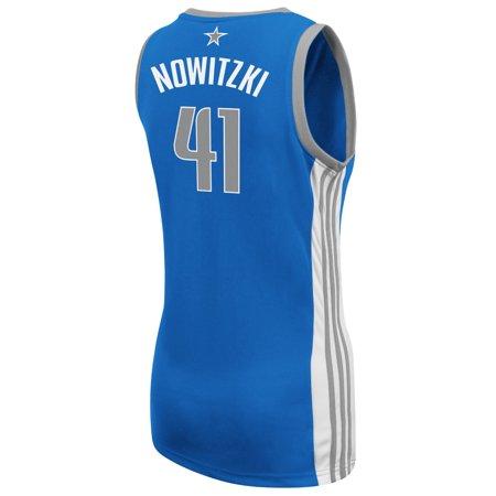 Dirk Nowitzki Dallas Mavericks Adidas Womens Player Jersey (Blue) by