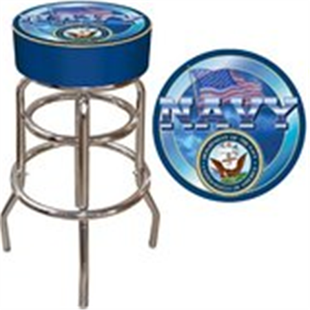 US Navy Padded Bar Stool - Made In USA