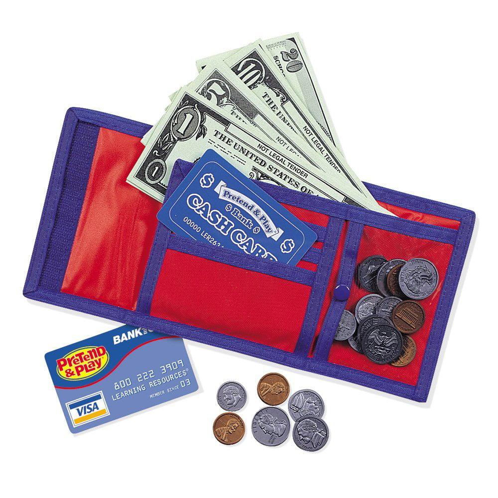Learning Resources Cash 'N' Carry Wallet, Kids Wallet, Ages 5+, LER0088