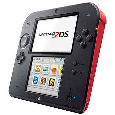 Nintendo 2Ds Handheld Video Game System  Crimson Red