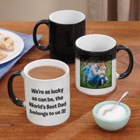 Personalized Any Message and Photo Color Changing Coffee Mug
