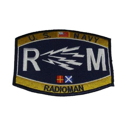 USN NAVY RM RADIOMAN MOS RATING PATCH SAILOR VETERAN