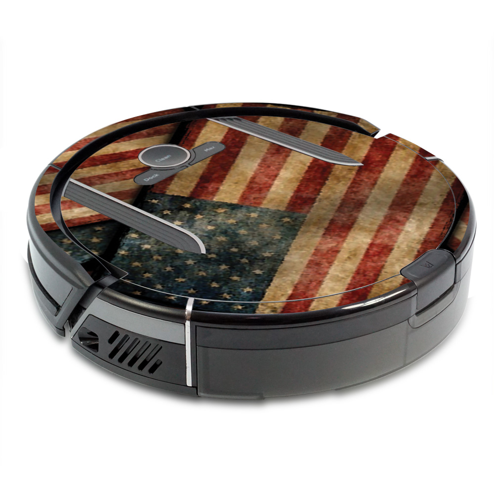 MightySkins Skin for Shark Ion Robot R85 Vacuum - Army Star   Protective, Durable, and Unique Vinyl Decal wrap cover   Easy To Apply, Remove, and Change Styles   Made in the USA