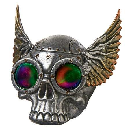 Design Toscano Road Rash Winged Biker Skull Statue