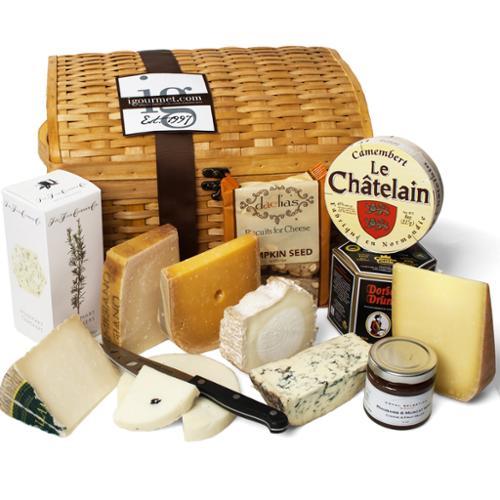igourmet  Luxurious Cheese Treasures Gift Basket