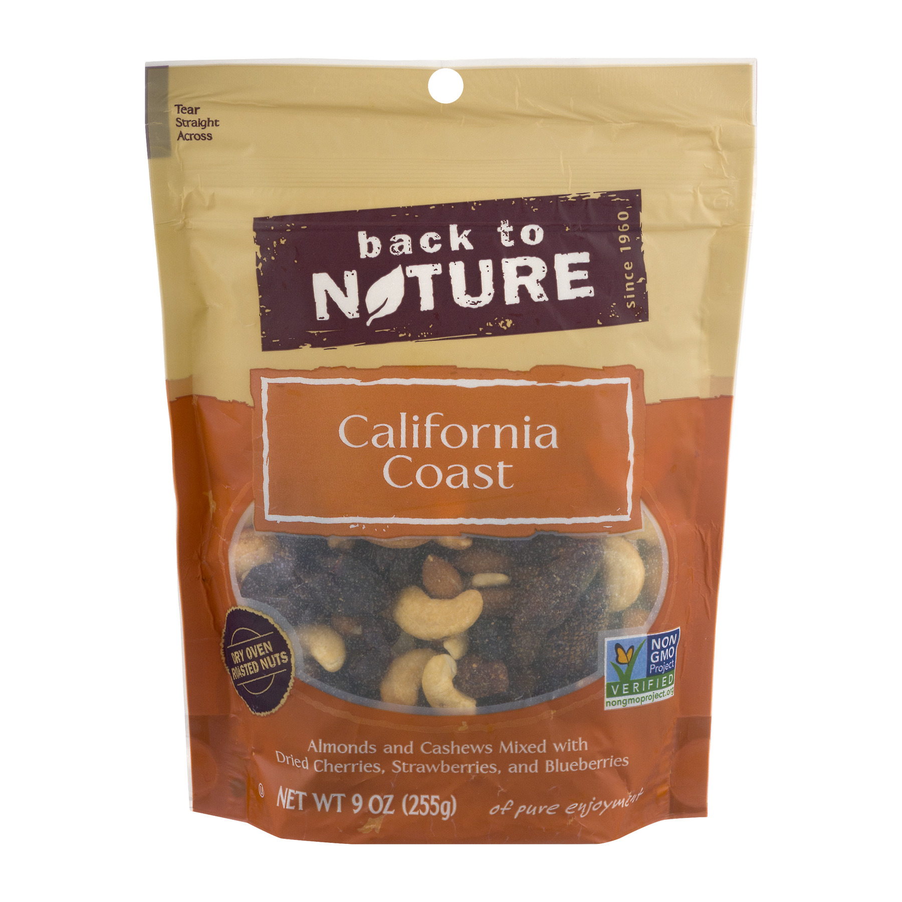 Back to Nature California Coast Dry Oven Roasted Nuts, 9.0 OZ
