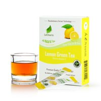 LeCharm Unsweetened Lemon Green Tea All Natural with Zero Calories (10 Sachets)