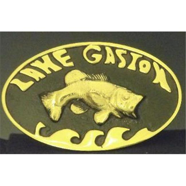 Mayer Mill Brass - HTC-LG - Lake Gaston Trailer Hitch Cover With Fish