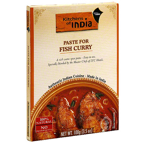 Kitchens Of India Paste For Fish Curry, 3.5 oz (Pack of 6)