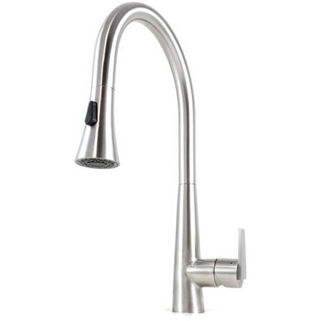 Ariel Eclipse Lead Free Solid Stainless Steel Pull Out Sprayer Kitchen Mixer Faucet