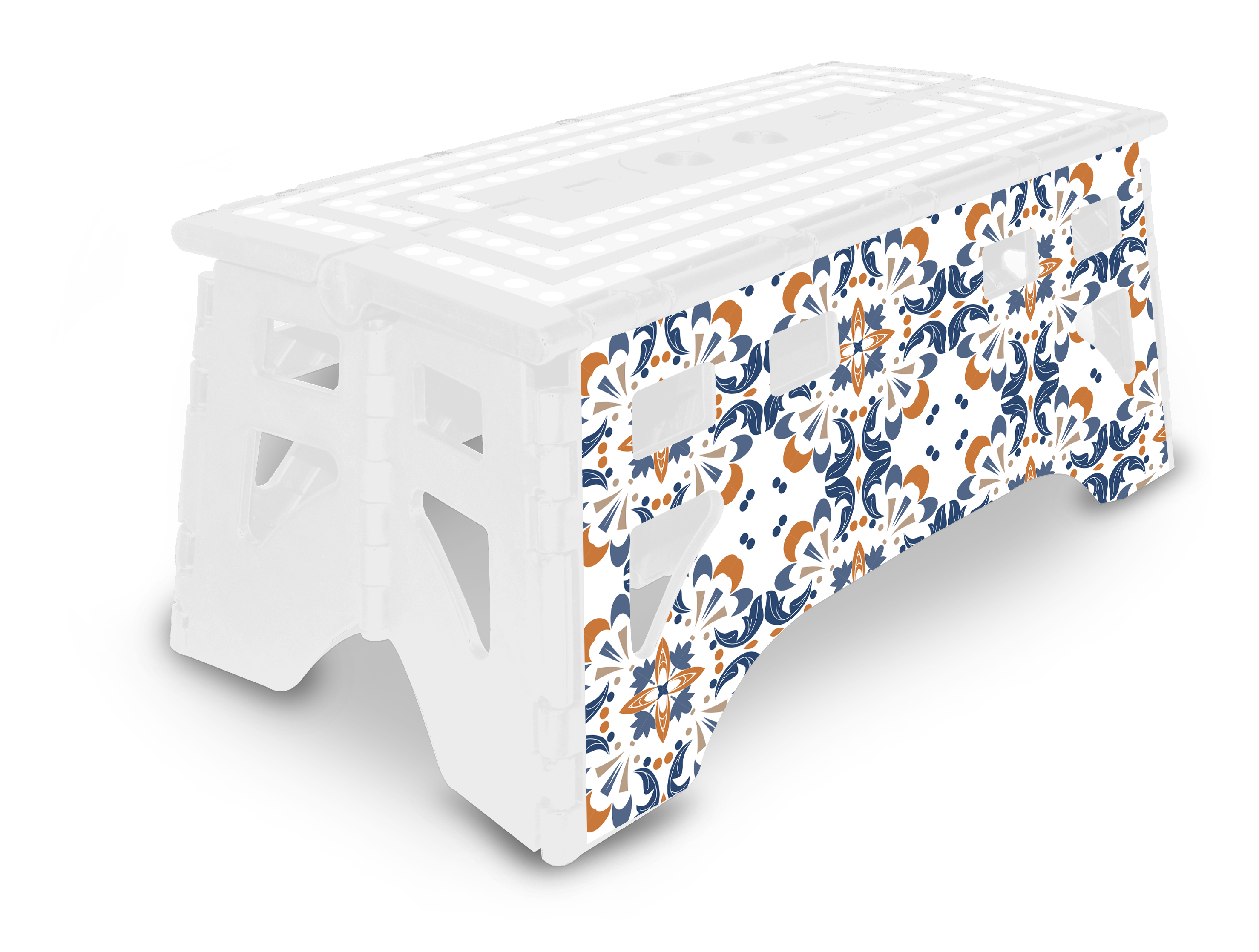 Expace Es391 Folding Step Stool 20 Inch Extra Wide Heavy