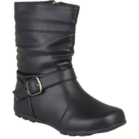 Brinley Co Girls' Slouchy Accent Mid-calf Boots](Go Go Boots For Girls)