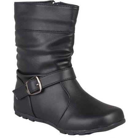 Brinley Co Girls' Slouchy Accent Mid-calf Boots](Girls Next Boots)