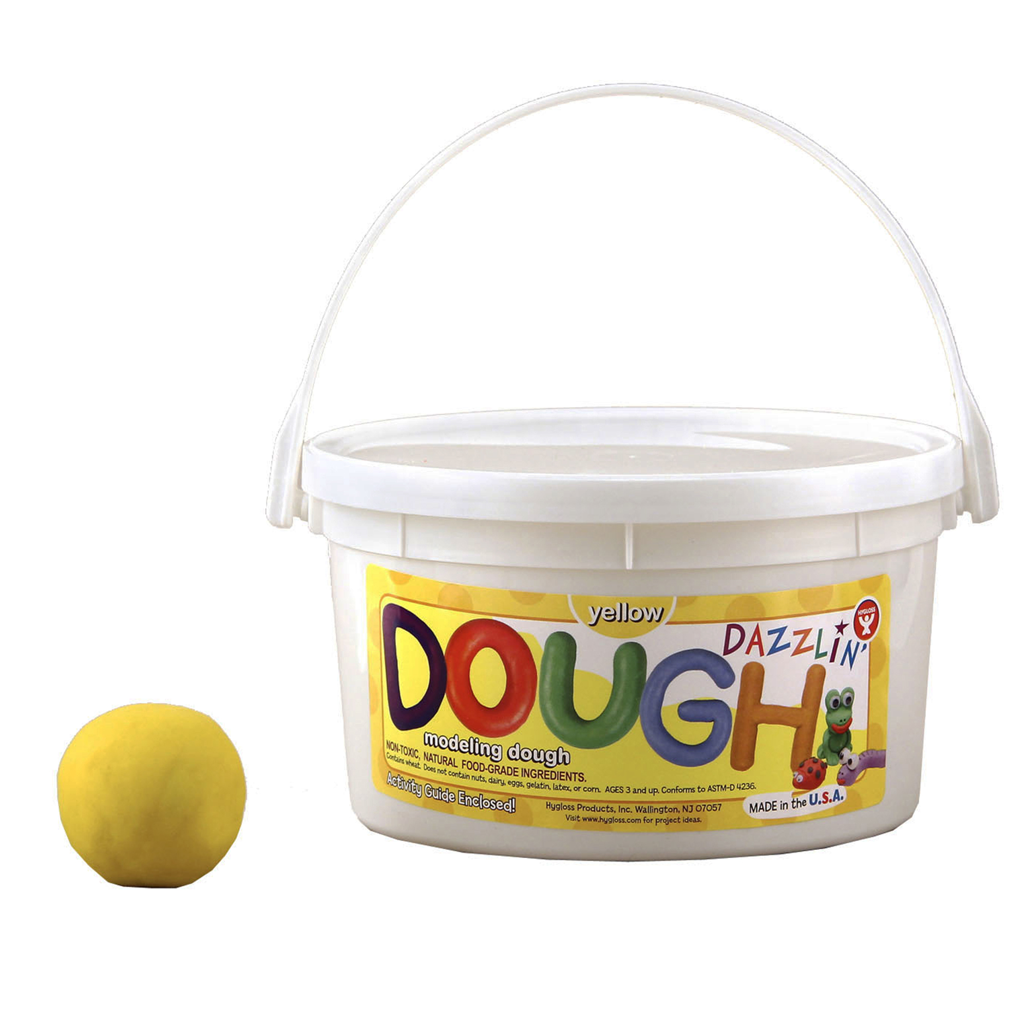 Dazzlin' Dough, Yellow, 3 lb. Tub, Pack of 3