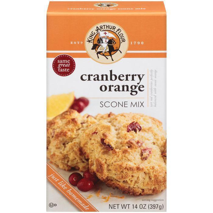 King Arthur Flour Cranberry Orange Scone Mix 14 Oz (Pack of 6)