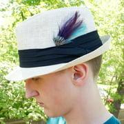 ZUCKER Pheasant Hackle Feather Hat Trims - Copper - Dark Aqua - Plum