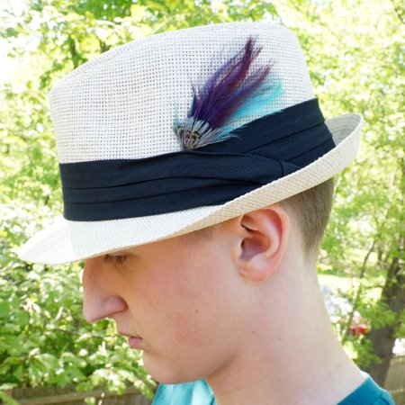 ZUCKER™ Pheasant Hackle Feather Hat Trims - Copper - Dark Aqua - Plum