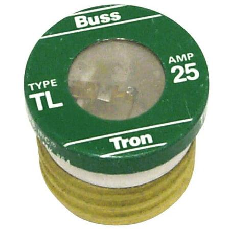 Bussman TL-25PK4 Box of 4 25 amp Edison Base Plug Fuse