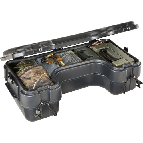 Plano Rear Mount ATV Box with Hinged Cover, Black